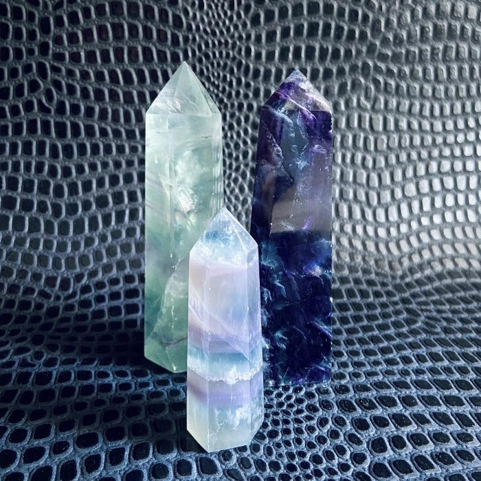 Fluorite Crystal Point Med or LG