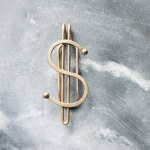 Art Deco Dollar Sign Money Clip