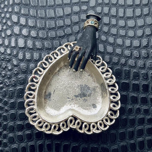 Metal Hand & Heart Dish
