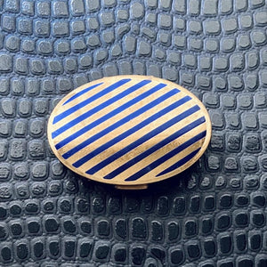 Blue Striped Compact Mirror