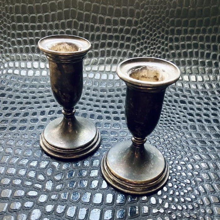 Pair of Silver Plated Candlesticks
