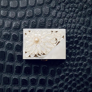 Floral Mother of Pearl Stash Box