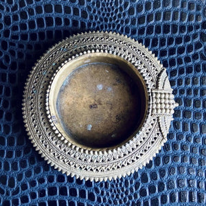 Antique Decorative Metal Dish