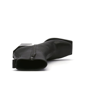 SRxUN Calf Boot Mens Black top view
