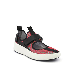 bo mj mens red + black angle out view