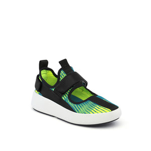 bo mj neon lime + black angle out view