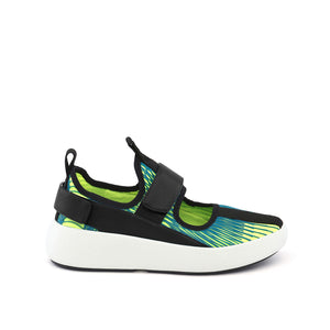 bo mj neon lime + black out view