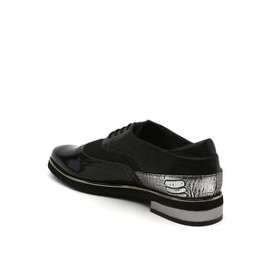 brogue mens black angle in