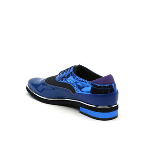 brogue mens cobalt blue angle in