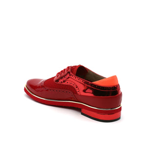 brogue mens deep red angle in