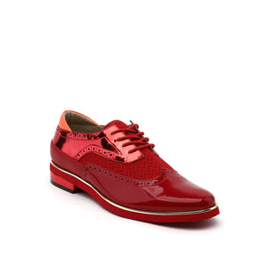 brogue mens deep red angle out