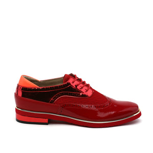 brogue mens deep red out
