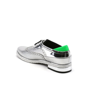 brogue mens silver angle in