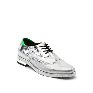 brogue mens silver angle out