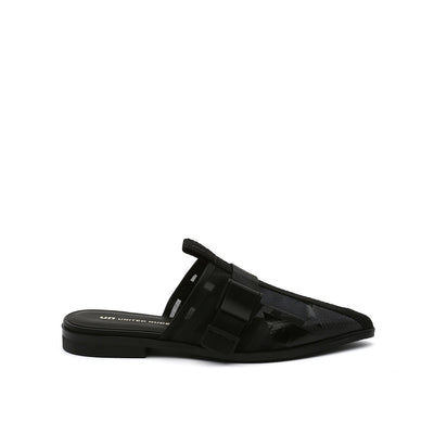 calli mule lo black printed mesh black out view