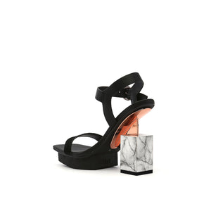 cube sandal hi black angle in view