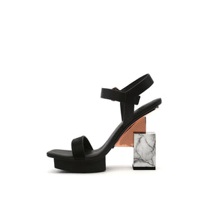 cube sandal hi black in view