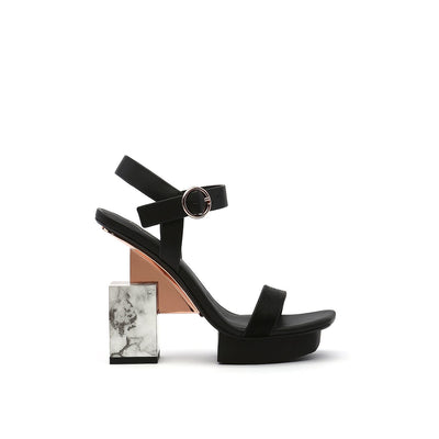 cube sandal hi black out view