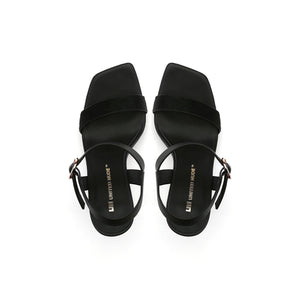 cube sandal hi black top view
