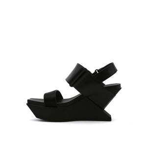 delta wedge sandal black in view