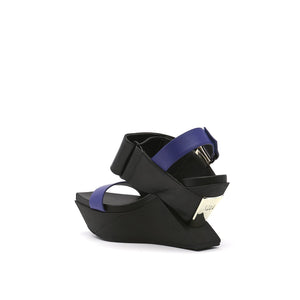 delta wedge sandal mid night angle in view
