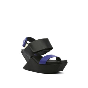 delta wedge sandal mid night angle out view