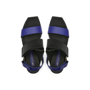 delta wedge sandal mid night top view