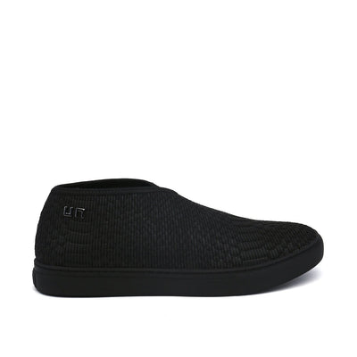 fold slip on mens black out view