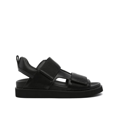geo sandal mens black out view