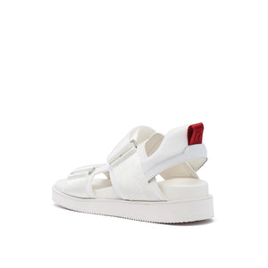 geo sandal mens white red mix angle in view
