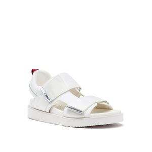 geo sandal mens white red mix angle out view