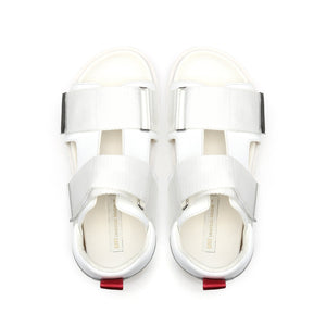 geo sandal mens white red mix top view