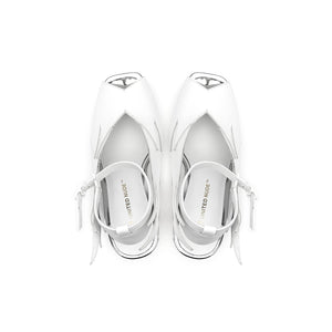 glam slingback white top view