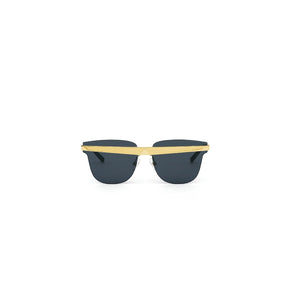 Delta Sunglasses Gold + Black front view