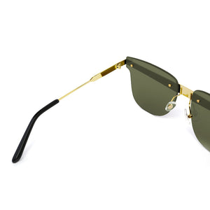 Delta Sunglasses Gold Mirror angle in view