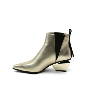 jacky tek bootie mid gold in view