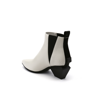 jacky tek bootie mid white angle in view