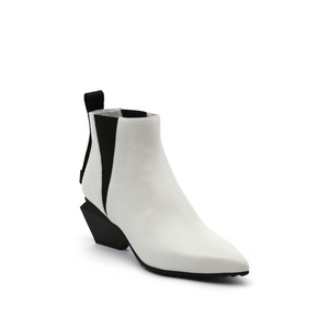jacky tek bootie mid white angle out view