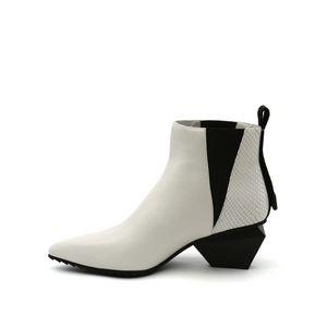 jacky tek bootie mid white in view