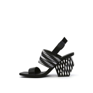 leona op sandal hi black in view