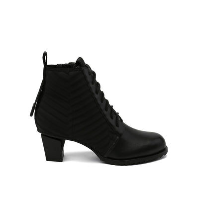 lev lace bootie black out view