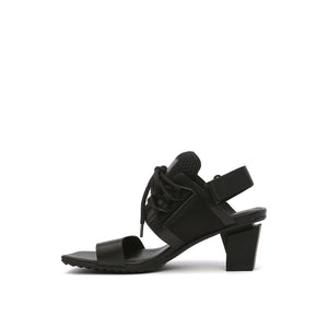 lev sport sandal mid black in view