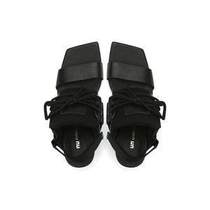 lev sport sandal mid black top view