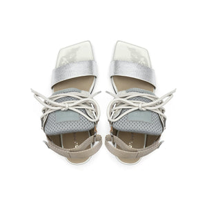 lev sport sandal mid nude top view