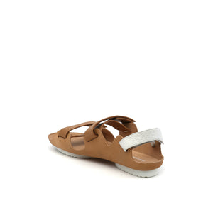 lilt sandal beige + white angle in  view