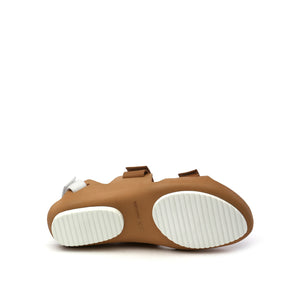 lilt sandal beige + white bottom view