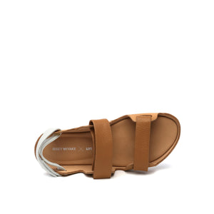 lilt sandal beige + white top view