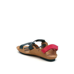 lilt sandal green + pink angle in  view
