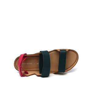 lilt sandal green + pink top view