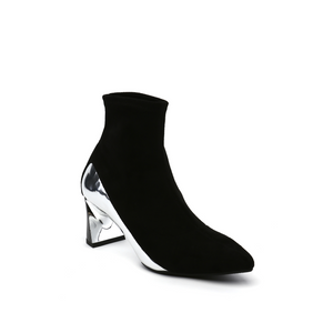 molten flow ankle boot mid black angle out